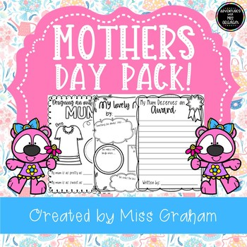 Mother's Day Activities - Writing Templates, Cards and Fun Activities