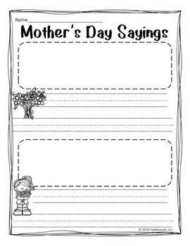 Mother's Day Sayings a FUN Sentence Building