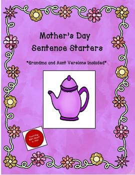 Mother's Day Sentence Starter Activity