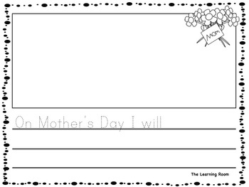 Mother's Day Sentence Starters for Kindergarten - Grade 1! NO PREP!