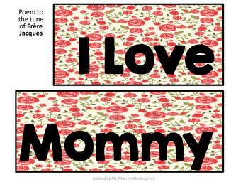 Mother's Day Shared Reading Poem and Mother's Day Tea Activities