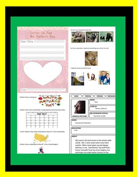 Mother's Day Social Story & ASL (Finger Spelling) Cards Bundle Special Education
