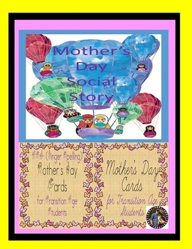 Mother's Day Social Story & ASL (Finger Spelling) Cards Bu