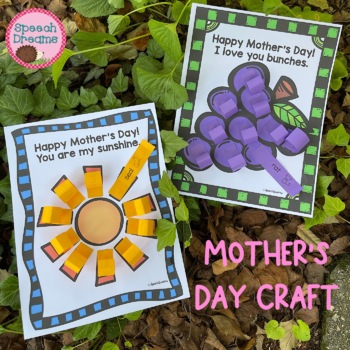 Mother's Day Speech Therapy Crafts