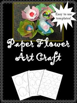 Spring Art Craft - Paper Flower Art Project