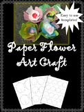 Spring Art Craft - Paper Flower Art Project