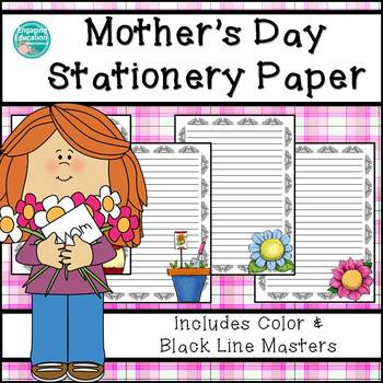 Mother's Day & Spring Themed Writing Paper