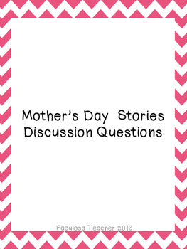 Mother's Day Stories Discussion Questions