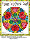 Mother's Day Super Mandala Card Color by Code