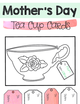 Mother's Day Tea Cup Cards