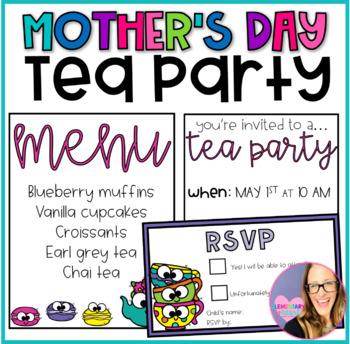 Mother's Day Tea Party Pack- Editable