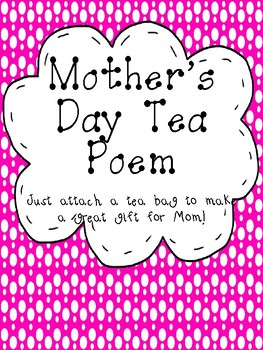 Mother's Day Tea Poem Craft