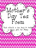 Mother's Day Tea Poem Craft