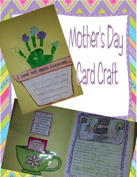 Mother's Day Tea Time Card and Ceative Writing Craft