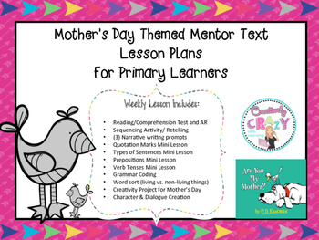 Mother's Day Themed Mentor Text Lesson Plans:Are You My Mother?