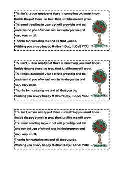 Mother's Day Tree Tags