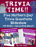 Mother's Day Trivia Game