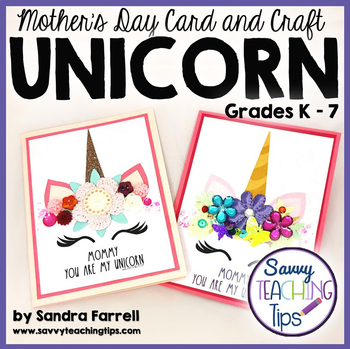 Mother's Day UNICORN CARD and CRAFT