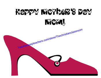 Mother's Day What I Love About Mom Shoe Theme Booklet