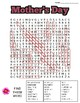 Mother's Day Word Search: 3 Difficulties