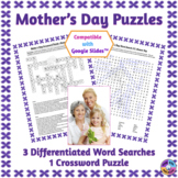 Mother's Day Word Search & Crossword Puzzles: Print & Paperless Versions