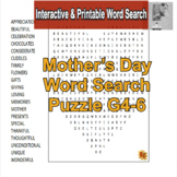 Mother's Day Word Search Puzzles G4-6
