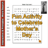 Mother's Day Word Search Puzzles for Kids G1