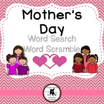 Mother's Day Word Search and Word Scramble
