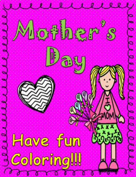 Mother's Day Worksheet  for coloring