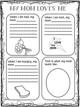 mother 39 s day writing activities for 1st grade mother 39 s day activity fun pack. Black Bedroom Furniture Sets. Home Design Ideas