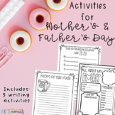 Mother's Day Writing Activities (Father's Day also included!)