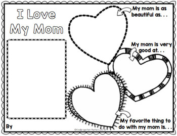 Mother's Day Writing Activities Freebie Both Mom and Mum