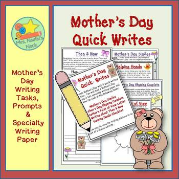 Mother's Day Writing Activities - Poetry, Lists, Similes and Writing Paper