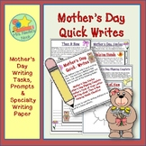 Mother's Day Writing Activities - Poetry, Lists, Similes a
