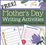 Mother's Day Writing Activities for Elementary Students