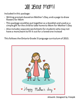 Mother's Day - Writing Activity
