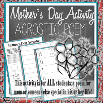 Mother's Day Writing Activity: Acrostic Poem