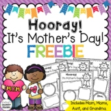 Mother's Day Writing Activity FREEBIE:  For Mom, Grandma, and Aunt!
