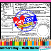 """Mother's Day: Writing Activity """"Math is Meaningful and so is my Mom"""""""