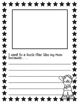 Mother's Day Writing Activity: Rock Star Version