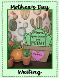 Mother's Day Writing Craft Cactus