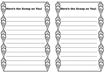 Mother's Day Writing Craft: The Scoop on You!
