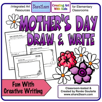Mother S Day Writing Draw And Write By Renee Goularte Creating Art