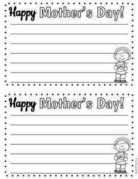 Mother's Day Writing Fun