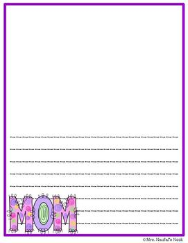 Writing Paper Templates - Mother's Day Theme