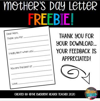 Mother's Day Writing Paper FREEBIE