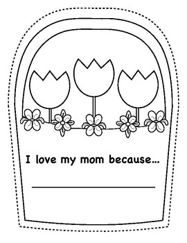Mother's Day Writing Paper and Printable Folding Card