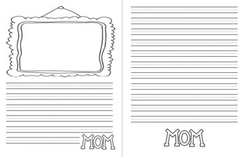 Mother's Day Writing Paper with Picture Box