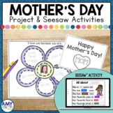 Mother's Day Writing Project and Seesaw Activity for Dista
