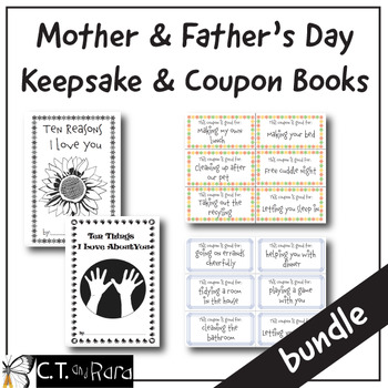 Mother's Day and Father's Day Writing Keepsake Books and Coupons